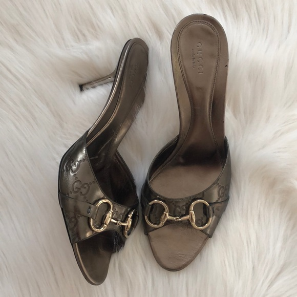 Gucci Shoes - 🎉Metallic Gucci Horsebit Heels
